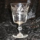 Crystal Water Goblet Leaf Dot Flower Wafer Stem UNK3309