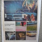 1966 Pontiac Tiger Color Magazine Ad tempest gto lemans