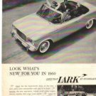1960 Studebaker Lark or Triumph TR-3 Magazine Ad