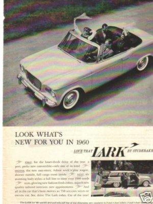 1960 Studebaker Lark or Triumph TR-3 Magazine Ad