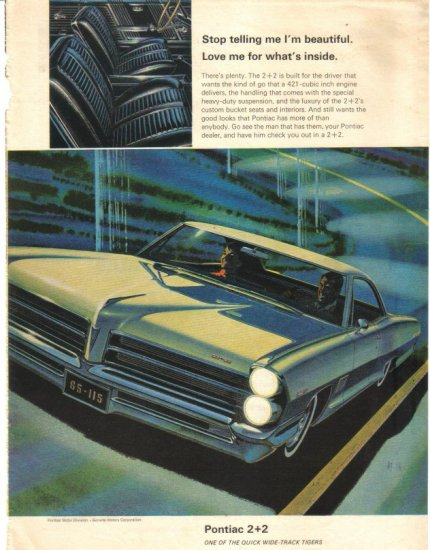 65 Pontiac 2+2 1965 Magazine Ad