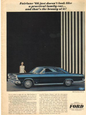 66 Ford Fairlane 1966  Magazine Ad