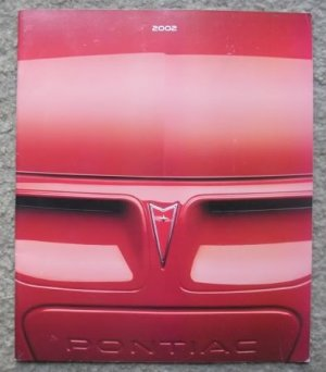 2002 Pontiac Full Line Dealer Sales Brochure