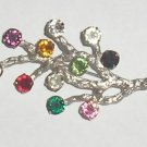 Van Dell Sterling Silver & Multi Rhinestones Brooch pin