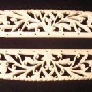 Pre-Ban Antique Carved Ivory Art Nouveau Purse Bag Handles Frame