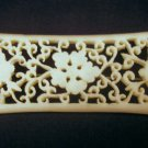 Vintage Antique Pre-Ban Carved Ivory Victorian Brooch