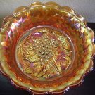 Older Imperial Carnival Glass Marigold Heavy Grape 9 in. Bowl