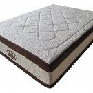 "NEW! 15.5-Inch Grand AtlantisBreeze Cool GEL w/6 Layers, w/7.5"" Memory Foam Mattress-Queen Size"