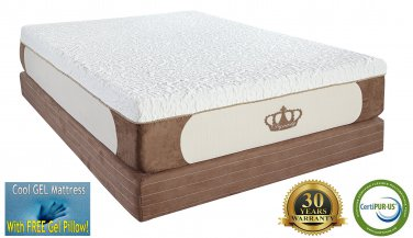 12-Inch Twin CoolBreeze GEL Memory Foam Mattress