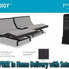 "Dynasty Mattress  15.5"" Gel Adjustable Beds Prodigy Leggett & Platt-White Glove Delivery-SPLIT KING"