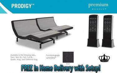 "Dynasty Mattress  15.5"" Gel Adjustable Beds Prodigy Leggett & Platt-White Glove Delivery-SPLIT KING"