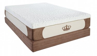 "14"" Grand CoolBreeze GEL Memory Foam Mattress-Split Cal King Size"