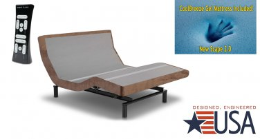"DynastyMattress 15.5"" QUEEN GEL Adjustable Bed SCape 2.0  Leggett & Platt, In-home Delivery"