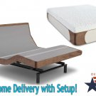 "Dynasty Mattress 13"" Gel Adjustable Beds SCape 2.0 Leggett & Platt-with White Glove Delivery-QUEEN"