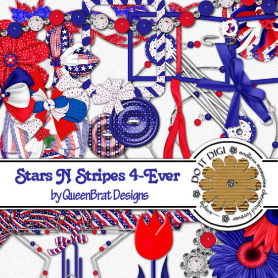 Stars N Stripes Scrappers Kit
