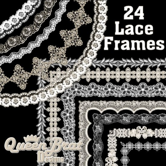 Lace Frames Pack 1