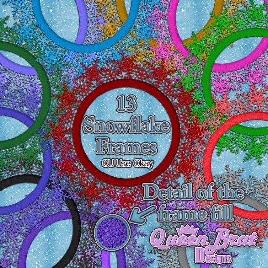 Snowflake Glitter Frames