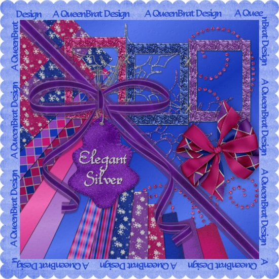 Elegant Silver Scrappers Kit