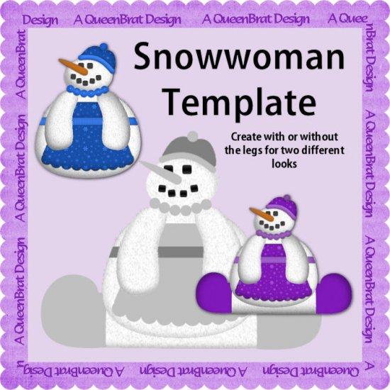 Snowwoman Template