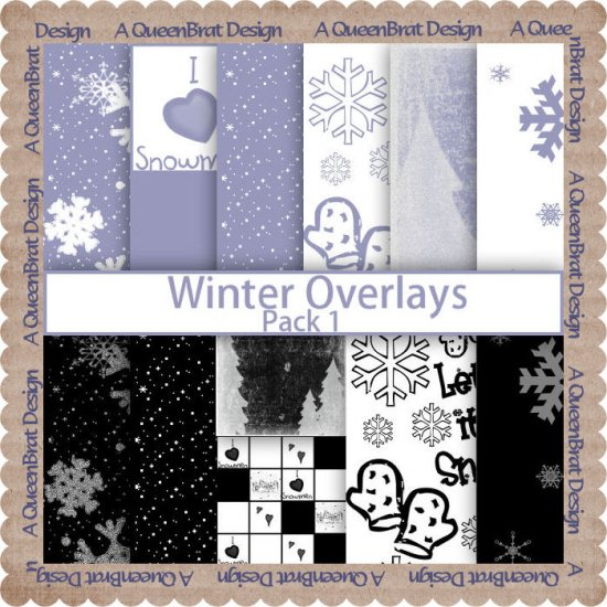 Winter Overlays Pack 1