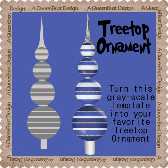 Treetop Ornament Template