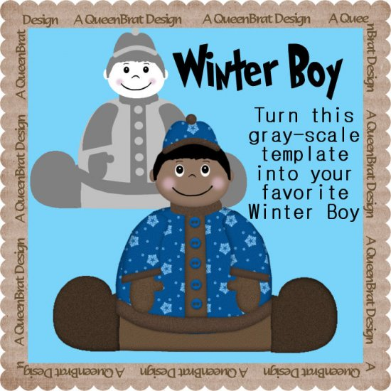 Winter Boy Template