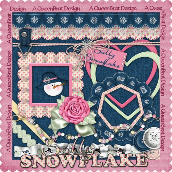 Sally Snowflake Scrappers Kit