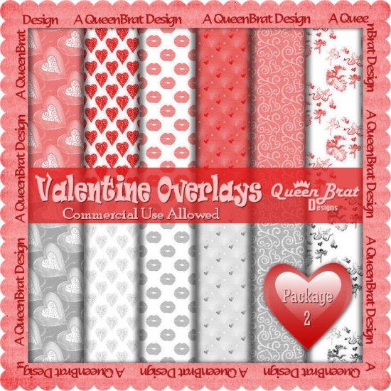 Valentine Overlays 2 - Scrapper Size