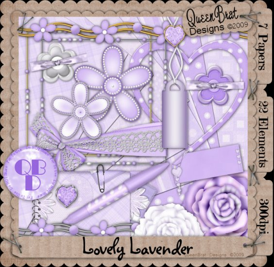 Lovely Lavender Scrappers