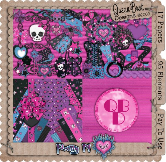 Pretty N Punk Scrappers Kit