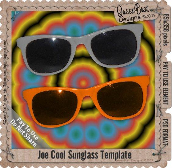 Joe Cool Sunglasses Template