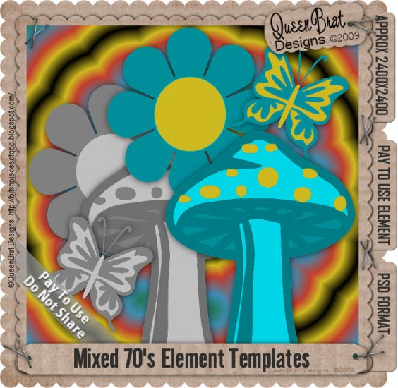 Mixed 70's Elements Template pack