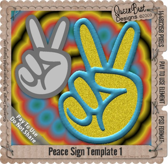 2-Peace signs Template