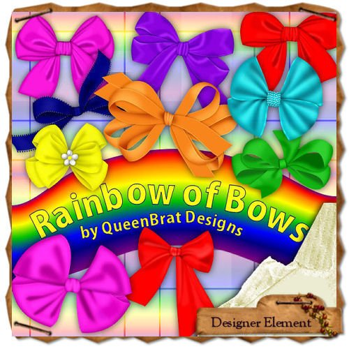 Rainbow of Bows Tagger Size
