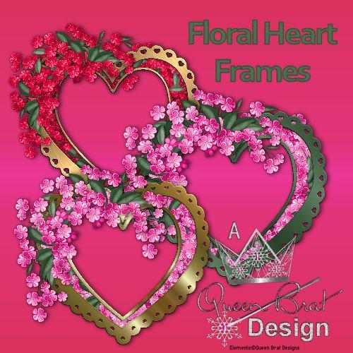 Floral Heart Frames
