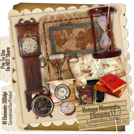 Vintage Moments Elements 1 - Scrapper Size