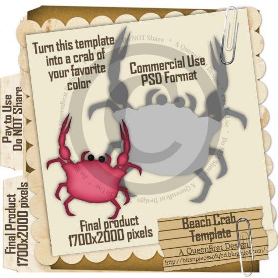 Beach Crab Template