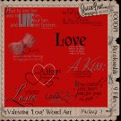 Valentine/Love Word Art Package 1