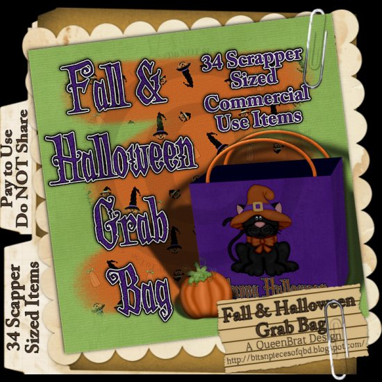 Fall and Halloween Grab Bag Scrapper