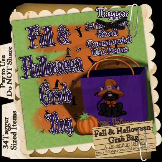 Fall and Halloween Grab Bag Tagger