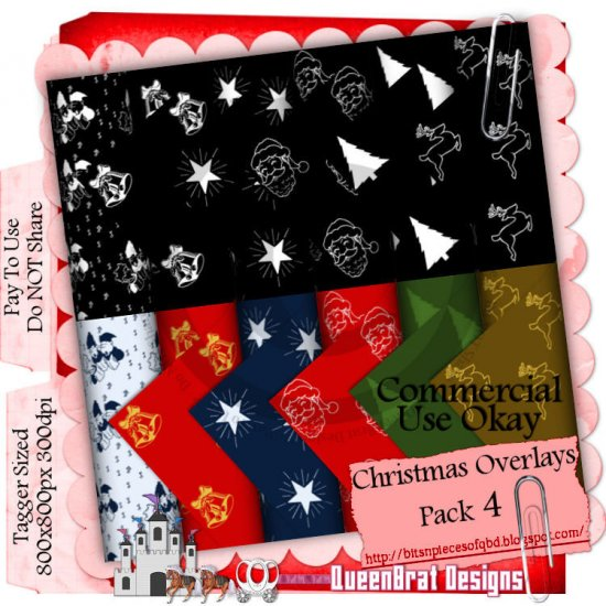 Christmas Overlays 2009 Taggers Pack 4
