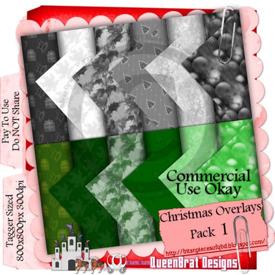 Christmas Overlays 2009 Taggers Pack 1