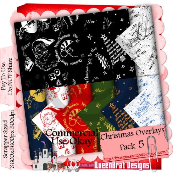 Christmas Overlays 2009 Scrappers Pack 5