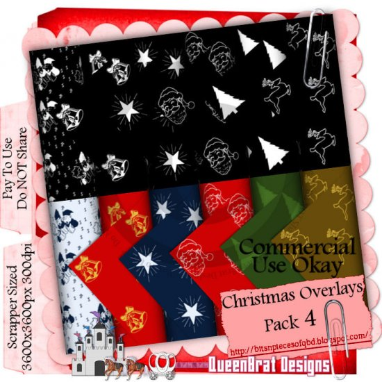 Christmas Overlays 2009 Scrappers Pack 4