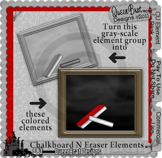 Chalkboard N Eraser Elements
