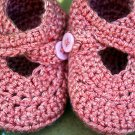 Sweet strawberry booties size 6-9 months