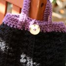 Black and lavender handbag