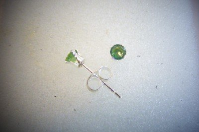 Chrome Diopside earrings set in 925 Sterling Silver