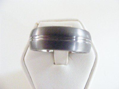 Men's Tungsten Bright Mans Band Style Ring size 11.5