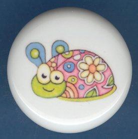 Psychedelic Ladybug Ceramic Knobs Pulls